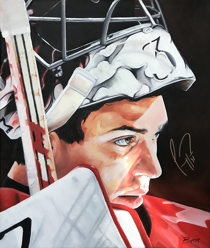 Carey Price 2014 Sochi Winter Olympics Gold Medal -Autographed Fine Art
