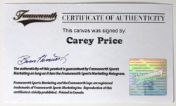 Care Price Autograph - Frameworth Authentication - Benss Art